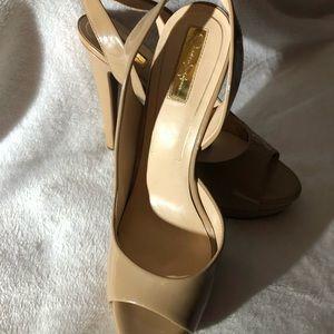 Jessica Simpson sexy beige heels with open toe